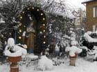 La vierge sous la neige