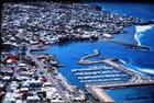 la ville de Saint Paul vue d'avion
