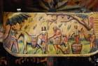 le bas-relief en bois de la charrette sicilienne