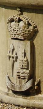 Le blason d'Aranjuez, sur la fontaine