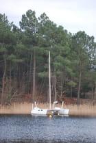 le catamaran sur le lac