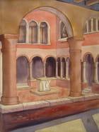 Le cloître St Apollinaire à Venise (aquarelle)