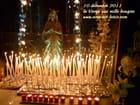 Le doux sourire de Marie la Vierge aux mille bougies