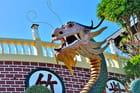 Le dragon géant du temple taoïste.
