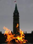 le feu sur le parlement canadien