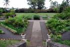 le jardin de la propriété de la famille de planteurs Panon Desbassayns