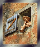 Le joueur de flute à la fenêtre.