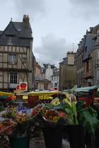 le marché dans la vieille ville de Vannes