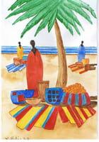 Le marché de la plage