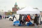 le marché sur le port d'Helsinki