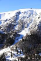 Le massif du Hohneck dans les Vosges en hiver
