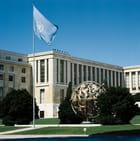 Le Palais des Nations dans le parc de l'Ariana