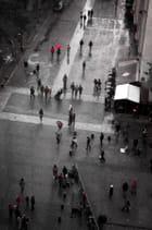 Le parapluie rouge!