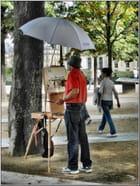 Le peintre à son chevalet