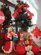 Le sapin , le père Noël, les sabots; l'étoile de Noël