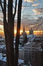 Le soir tombe sur Lausanne