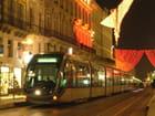 Le tram de Bordeaux une nuit de Noël