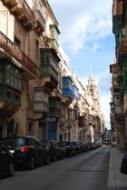 les balcons des immeubles de La Valette