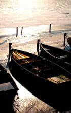 Les barques au couchant