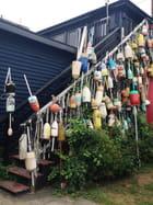 Les bouées des pêcheurs du Maine, USA