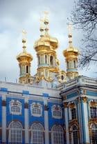 les bulbes de l'église du Palais de Catherine II