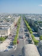 Les Champs Élysées vus de l'Arc de Triomphe