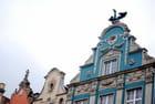 les façades des maisons hanséatiques de Gdansk