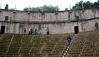 les gradins de l'amphithéâtre
