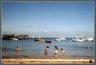 Les joies de la plage à Noirmoutier août 2000.