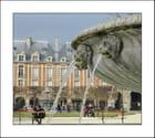 Les lions de la Place des Vosges...