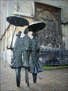 Les parapluies...