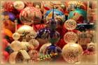Les parures de l'arbre de Noël