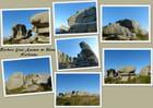 Les rochers sur Enez Amann ar Rouz