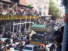 Les springboks reviennent au cap après la victoire!