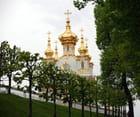 les toitures en bulbes  du château de Peterhof