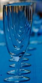 les verres bleu