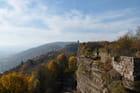 Les vosges et la plaine d'Alsace depuis le Château du Haut-Barr