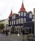 Maison bleu marine d'akureyri