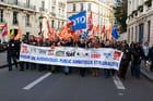 Manifestation contre la loi sur l'audiovisuel public