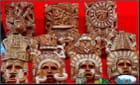Masques et souvenirs mexicains