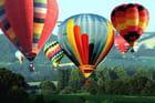 Départ de montgolfieres