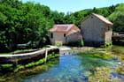 Moulin à eau sur la rivière Krka.