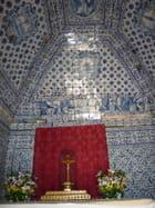 Mur de la chapelle en azulejoz