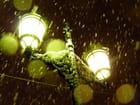 Neige sur lampadaire