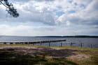 nuages sur le lac