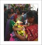 Offrandes lors de la Fête de Ganesh