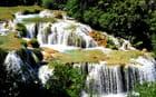 Parc naturel de Krka, cascades.