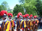 Pélerinage militaire de LOURDES - Gardes du Vatican.