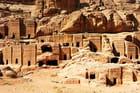 Petra, capitale troglodyte des Nabatéens.