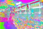 Piscine multicolore
